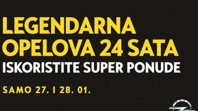 Legendarna Opelova 24 sata: 26. i 27. siječnja svi modeli po neponovljivim cijenama @ PSC Primorje