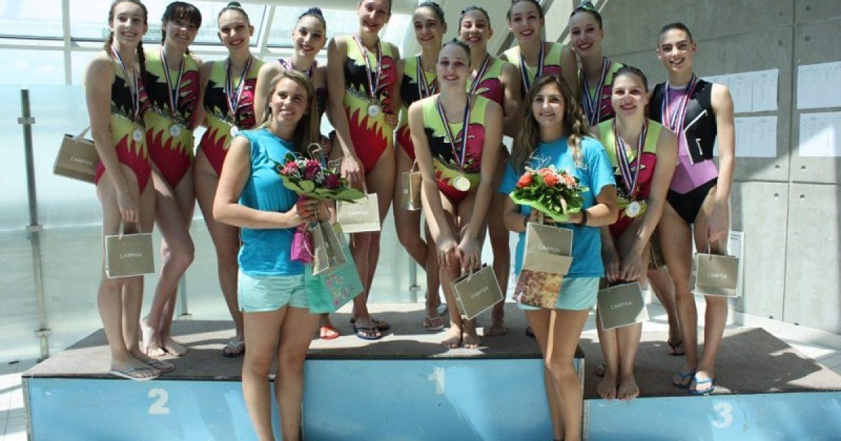 Riječke sinkro plivačice apsolutne prvakinje države