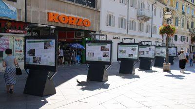 """Na Korzu postavljena izložba pod nazivom """"Kako smo obilježili Riječki zeleni tjedan?"""""""
