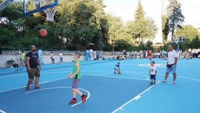 Otvorenje obnovljenog košarkaškog igrališta na Zametu