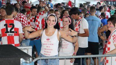 Rijeka je proslavila povijesni uspjeh hrvatskog nogometa