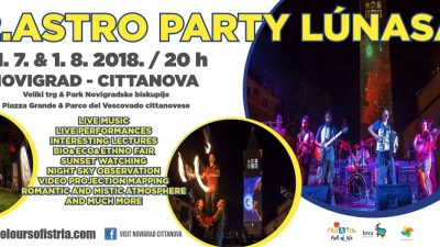 12. Astro party Lunasa – Astronomija, romantika, mistika i mitologija zavladat će Novigradom