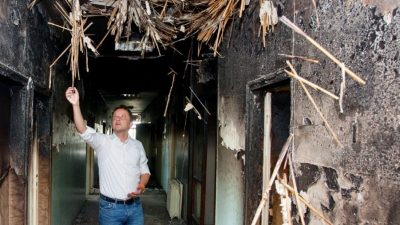 Predsjednik Gradskog vijeća posjetio opožarenu Lopaču: U cijeloj bolnici osjeti se miris paljevine i izgleda stravično