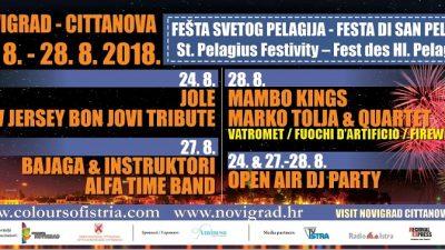 Zbog najave lošeg vremena promjene u programu Fešte svetog Pelagija @ Novigrad