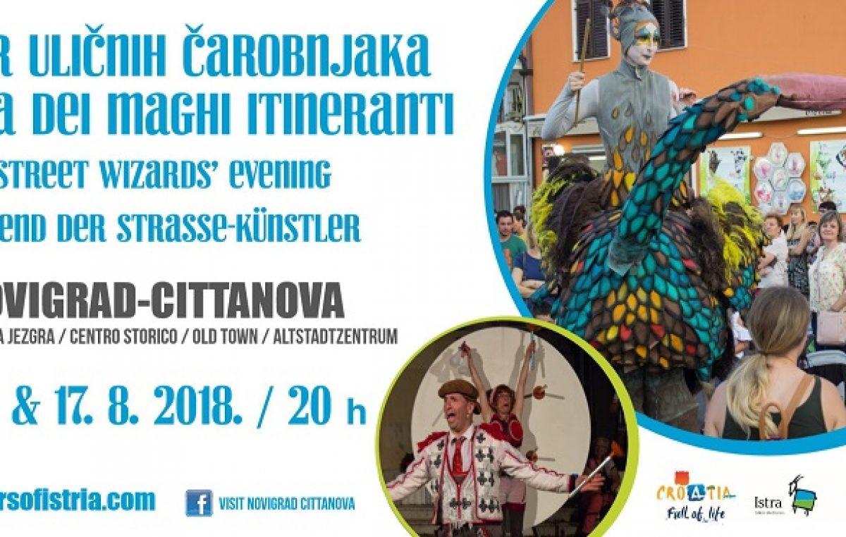 Manifestacije u Novigradu – Večer uličnih čarobnjaka