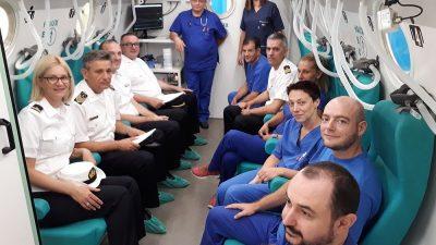 Stručna suradnja MORH-a i KBC-a – Održan radni posjet Vojno-zdravstvenog središta Zavodu za podvodnu i hiperbaričnu medicinu