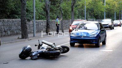 FOTO Dvije prometne nesreće usporile promet – U Istarskoj ulici teško stradao motociklist @ Škurinje, Bivio