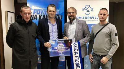 """Organizatori """"Povratka na Kantridu"""" uručili donaciju od 30 tisuća kuna Domu zdravlja PGŽ-a"""