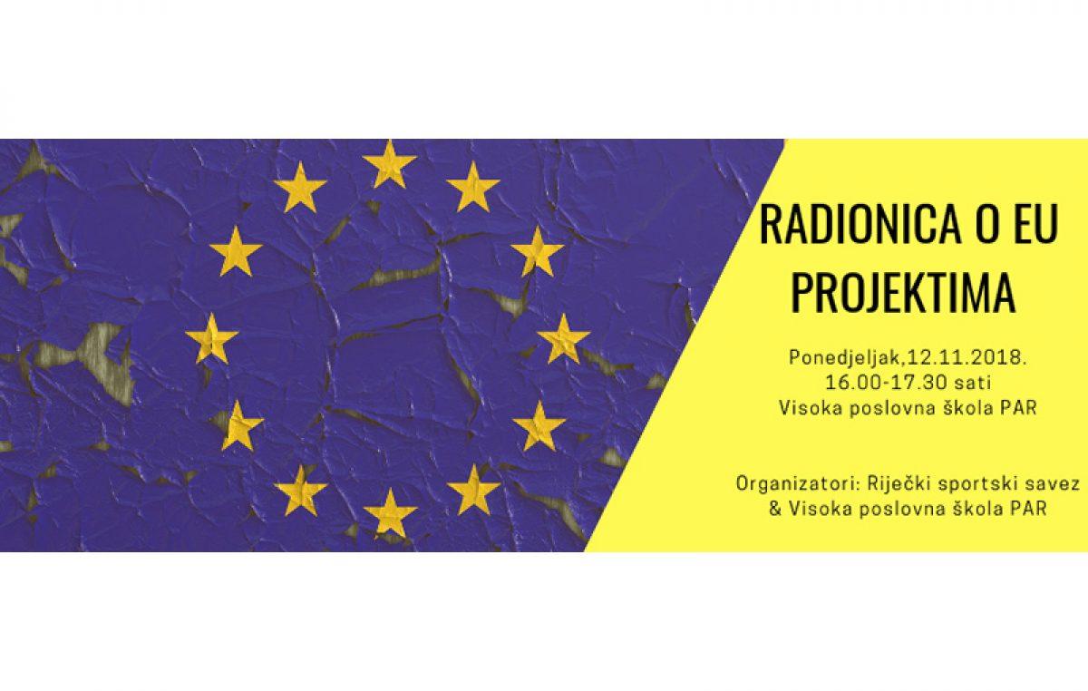 """Riječki sportski savez organizira radionicu za EU projekte """"Od ideje do realizacije"""""""