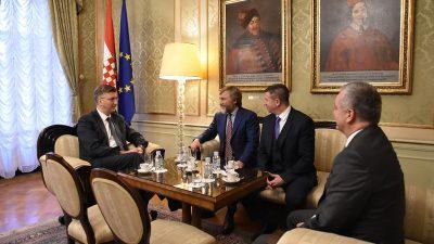 Potencijalni ulagač u Uljanik i 3. maj u Banskim dvorima: Premijer Andrej Plenković primio Vadima Novinskog