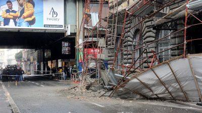 Urušila se skela u centru grada – Nema ozlijeđenih, Adamićeva ulica trenutno je zatvorena za sav promet