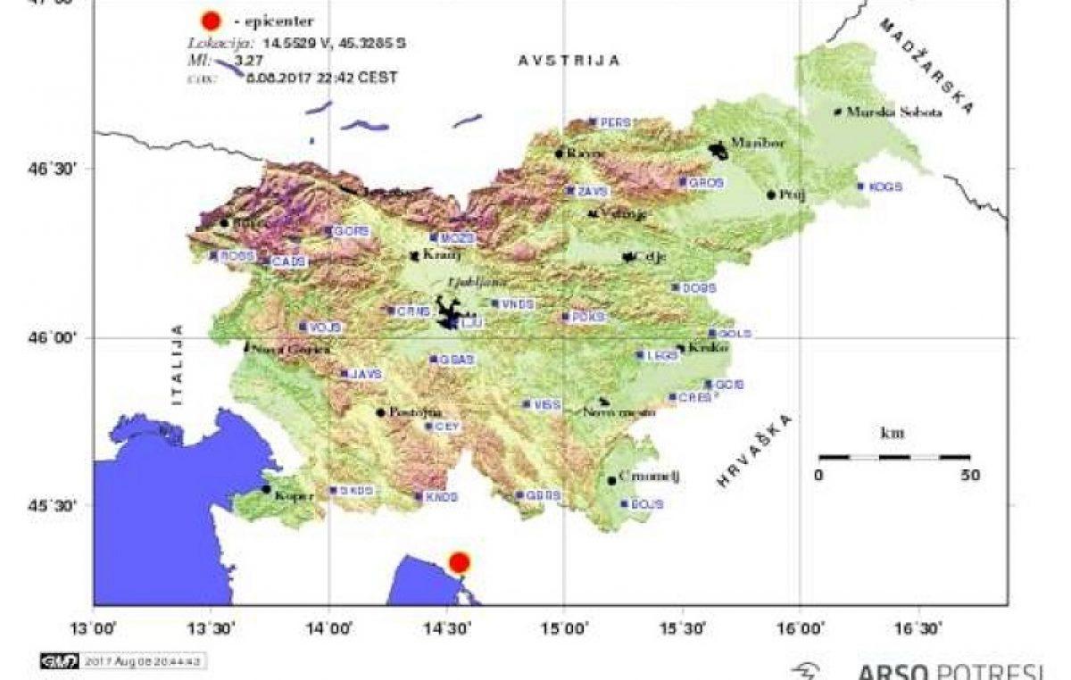 Građani osjetili podrhtavanje tla – Potres pogodio Rijeku, dio Liburnije i riječki prsten