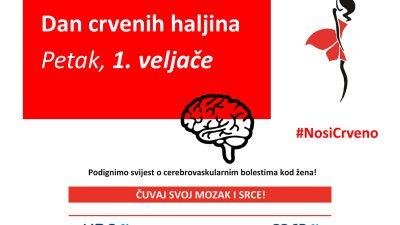 Dan crvenih haljina obilježava se 1. veljače – Cilj edukativnog štanda na Korzu i stručnih predavanja je podizanje svijesti o rizicima moždanog udara kod žena