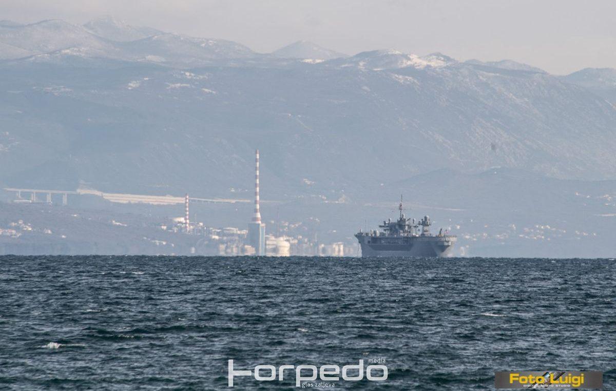 U OKU KAMERE Američki ratni brod Mt. Whitney stigao na remont u brodogradilište Viktor Lenac