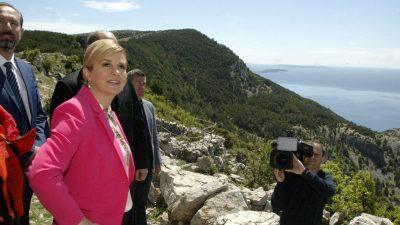 Završni dan obilaska predsjednice RH Kolinde Grabar Kitarović otocima u PGŽ