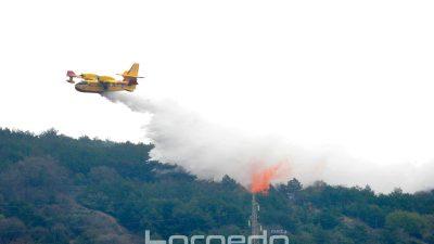 FOTO Na Cresu je danas započela prva europska vježba gašenja šumskih požara