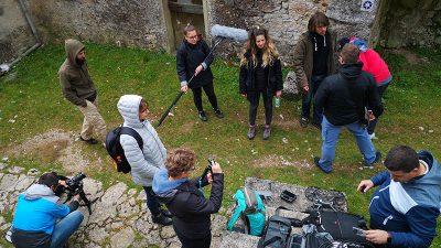 """Polaznici radionica audiovizualnog pripovijedanja kulturne baštine snimili video uradak na temu mitsko – povijesne staze """"Trebišća – Perun"""""""