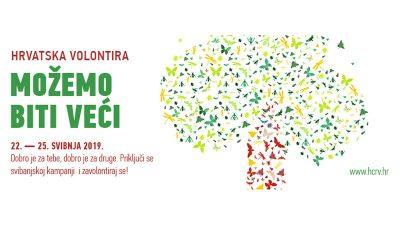 Hrvatska volontira 2019 – Deveto izdanje manifestacije posvećene volontiranju održat će se od 22. do 25. svibnja