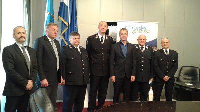 Susret predstavnika vatrogasne zajednice i Primorsko goranske županije