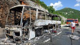 VIDEO/FOTO Izgorio autobus na autocesti Rijeka – Zagreb