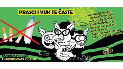 """Za Kantridu i Bivio bez opušaka i plastike – Eko inicijativa """"Prasci i Vuk te časte"""" nagrađuje sakupljače besplatnim pićem"""