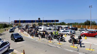 Brutalno treniranje strogoće: Motociklisti koji su sudjelovali u blokadi mosta kažnjeni s do 7000 kuna
