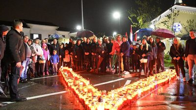 FOTO Viškovo za Vukovar – Kolonom sjećanja stanovnici Viškova odali počast gradu heroju