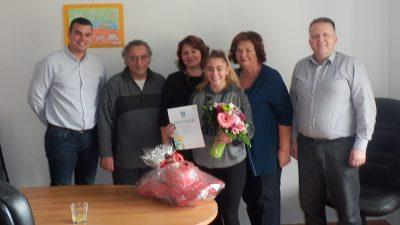 Općina Viškovo organizirala prijem za brončanu karatisticu Lauru Lisac