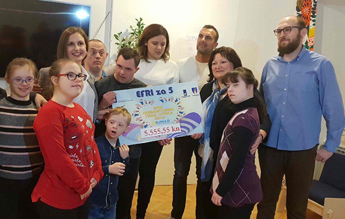 Sredstva prikupljena u sklopu 2.EFRI humanitarne trail utrke uručena štićenicima Udruge za Down sindrom Rijeka 21