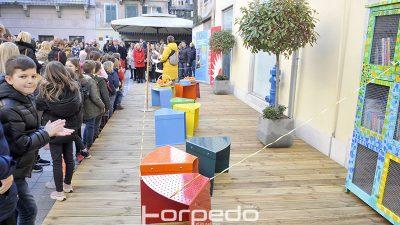 VIDEO/FOTO Na Trgu svete Barbare u starom gradu uređen dječji kutak za čitanje