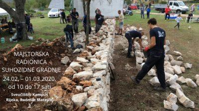 Susjedstvo Kampus Rijeke 2020 EPK organizira besplatnu majstorsku radionicu izrade suhozida