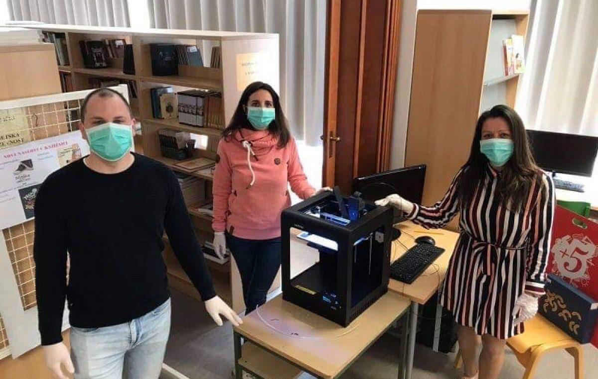 Solidarnost u doba krize: Creski učitelji izrađuju vizire za potrebe zdravstvenih radnika