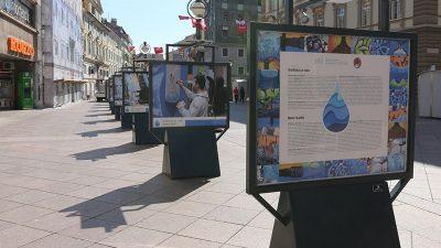 """Povodom Svjetskog dana voda na Korzu postavljena izložba """"Grafitima za vodu"""""""