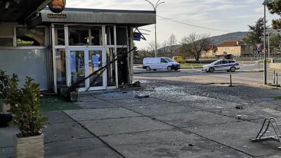 U OKU KAMERE Raznesen bankomat u Dražicama