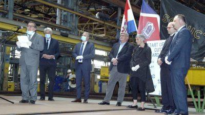 Krizi usprkos, u riječkom 3. maju počela gradnja broda Eclipse II, najluksuznijeg polarnog kruzera na svijetu