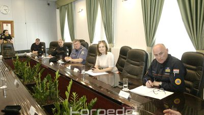 Susret pomoćnika unutarnjih poslova Damira Trusa sa Stožerom civilne zaštite PGŽ