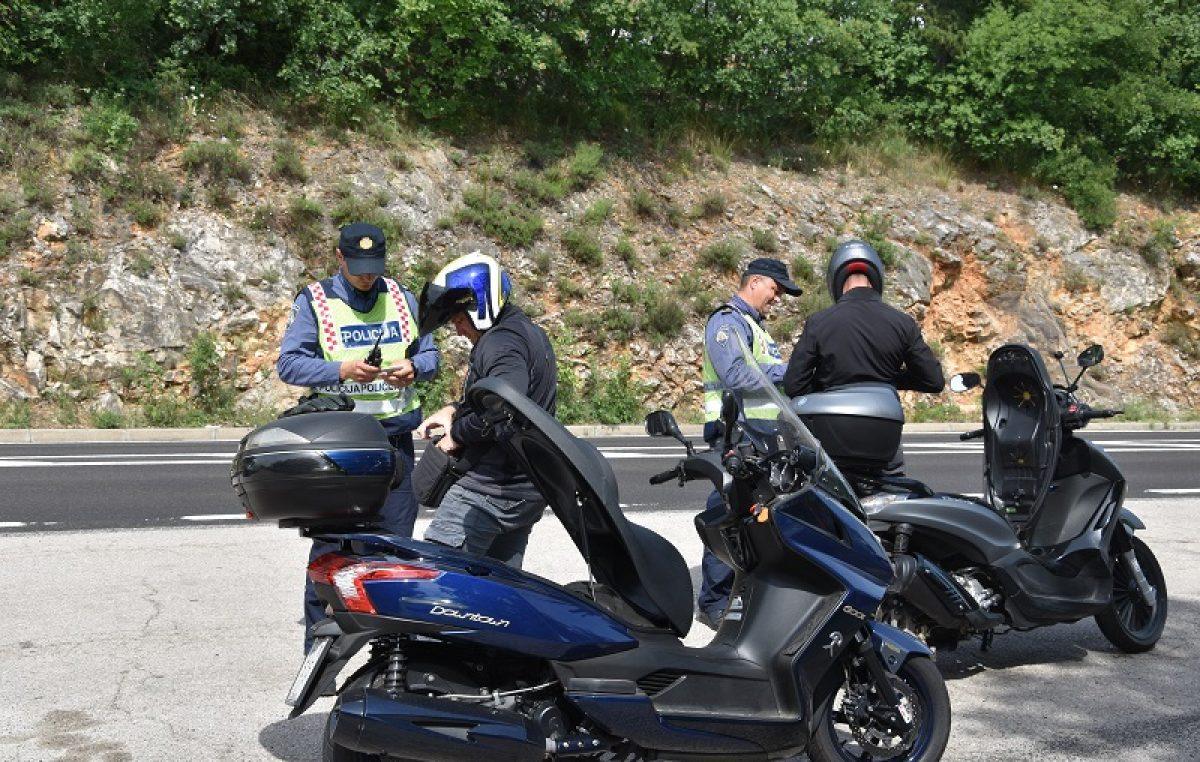 Policija će danas pojačano kontrolirati vozače motocikala i mopeda