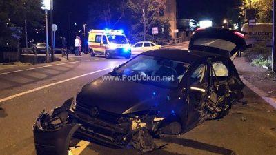 FOTO Krš i lom na ulazu u Opatiju – Zbog teže prometne nezgode promet teče otežano