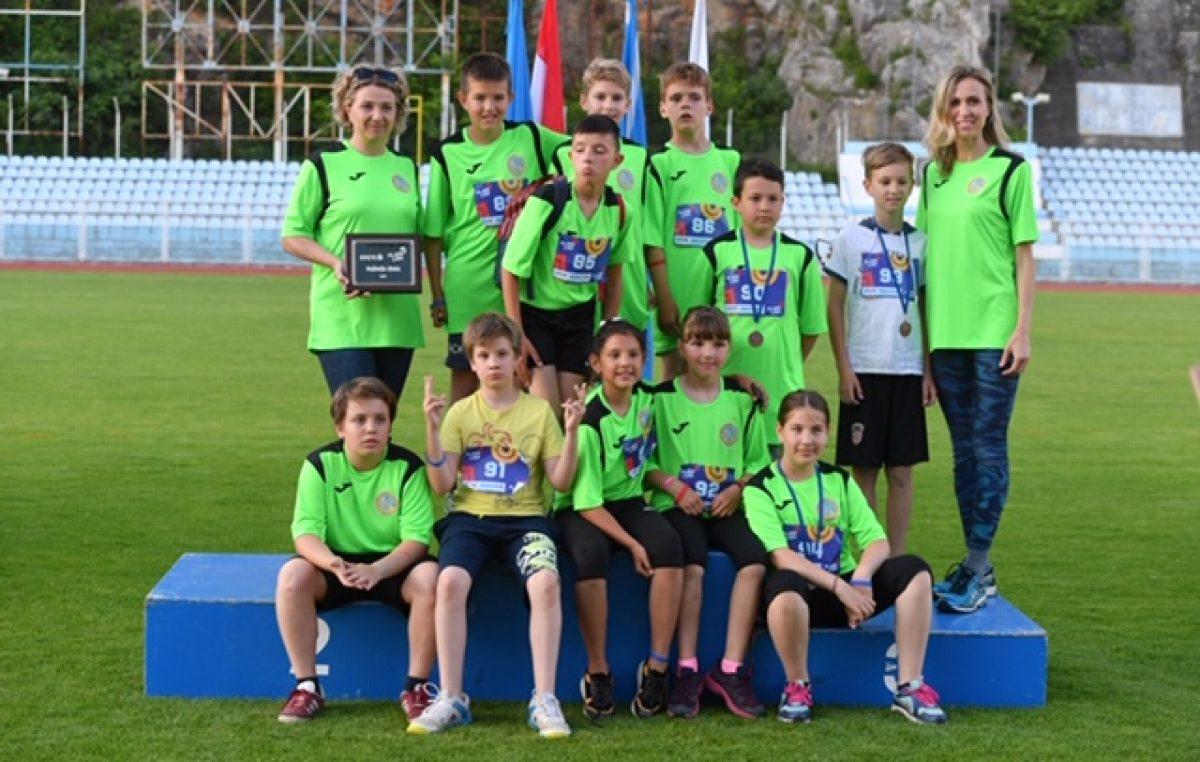 Mladi atletičari OŠ Ivanke Trohar iz Fužina najbolji na Erste Plavoj Ligi