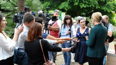 Helena Jaklitsch slovenska ministrica za dijasporu i Barbara Riman predsednica Zveze slovenskih društev va Hrvaškem u posjetu Rijeci