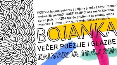 Bojanka – Večer poezije i glazbe koja slavi različitost održava se sutra na Kalvariji