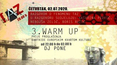 Razgovor o fenomenu TAZ-a večeras u beach baru Prasowski