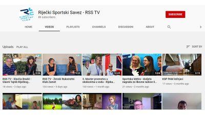 Riječki sportski savez pokrenuo RSS TV – vlastiti video kanal na YouTubeu
