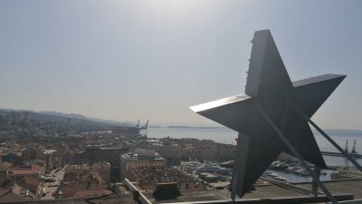 A-HSP podnio kaznenu prijavu protiv Obersnela i Cvijanovića zbog petokrake na Riječkom neboderu