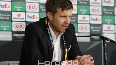 Simon Rožman nakon tijesnog poraza na otvaranju EL: Navijači su bili odlični, žao mi je zbog igrača i izgubljenog boda