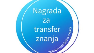 Nagrada za transfer znanja 'u rukama' dvaju riječkih fakulteta