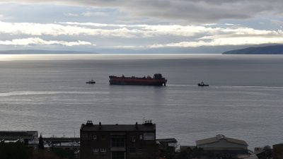 U OKU KAMERE Brod Santiago otegljen iz 3. maja u Viktor Lenac