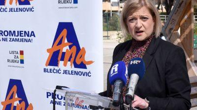 Lista za Rijeku u otvorenom pismu HRT-u: Neugodno smo iznenađeni odlukom da Blečić Jelenović nije pozvana u emisiju 'Otvoreno'