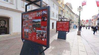 Izložba 'Volonteri – srce prijestolnice' postavljena na postamentima na Korzu