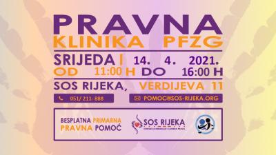 Besplatna primarna pravna pomoć u travnju ponovno u SOS Rijeka – centru za nenasilje i ljudska prava